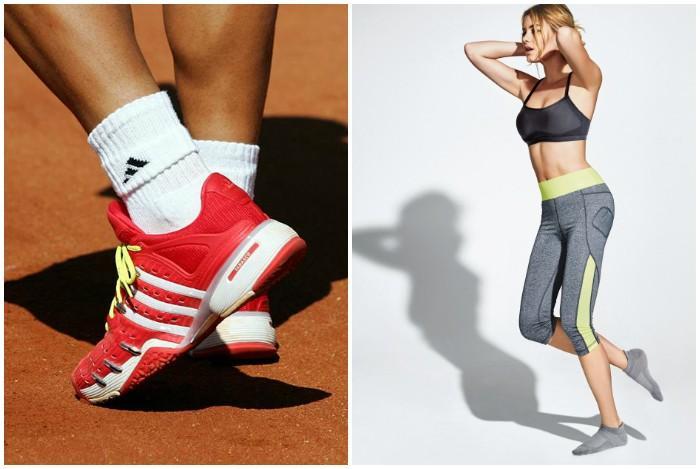 Занятие спортом в носках