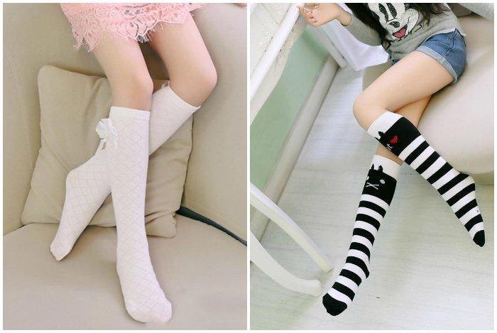 Высокие носки на девушках