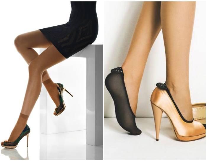 Капроновые носки с обувью