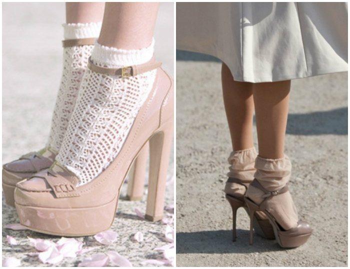 Сочетание носков с босоножками