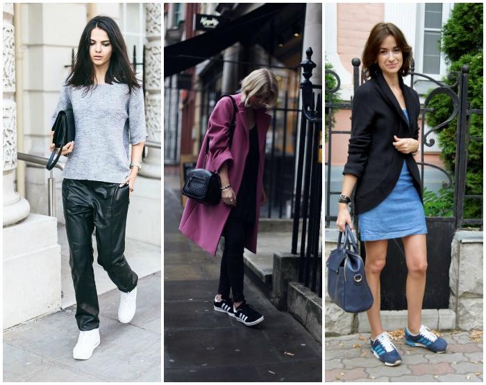 Уличный стиль с модными кроссовками