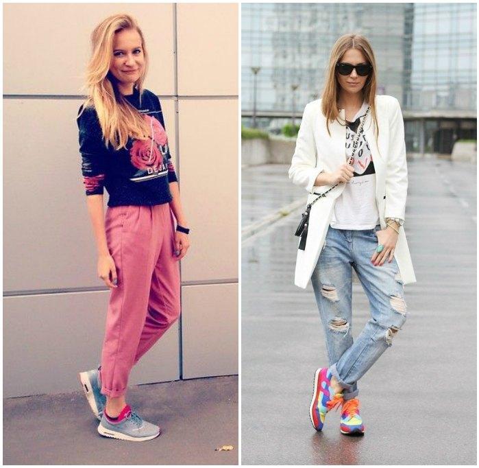 Стиль casual с кроссовками