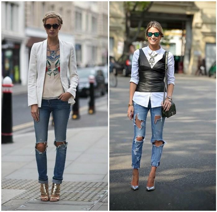 Модели в рваных джинсах