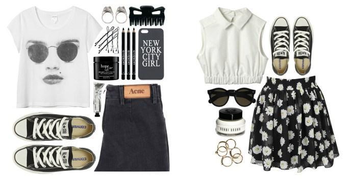 Модные сочетания с черными кедами