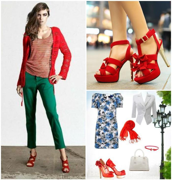 Стильные красные босоножки для девушек