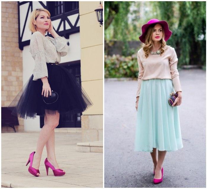 Романтичный образ с розовыми туфлями
