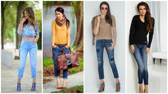 Романтичный образ с укороченными джинсами