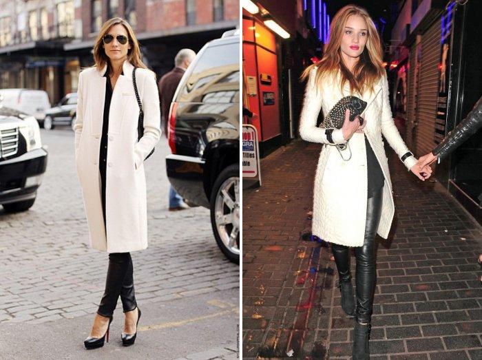 Классическое белое пальто