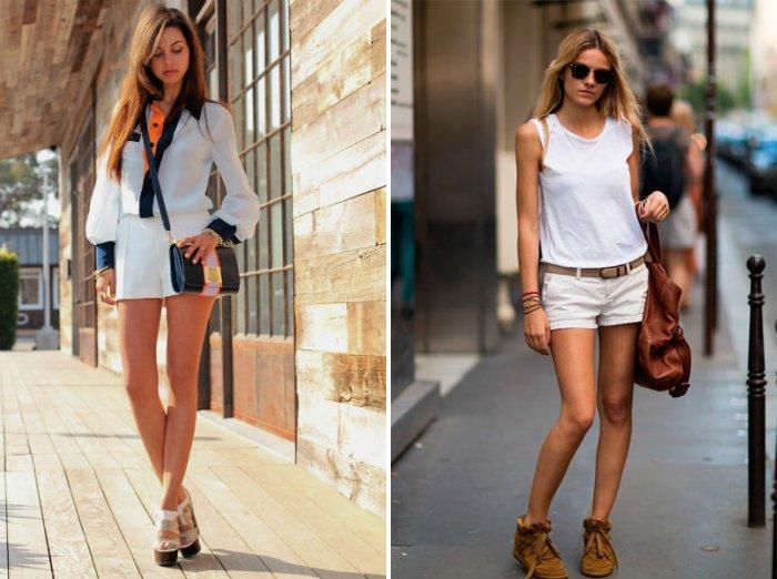 Белые шорты: модно и удобно