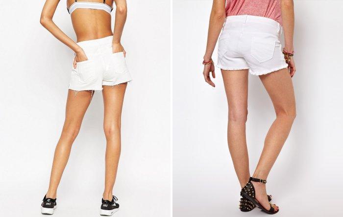 Молодежные короткие белые шорты