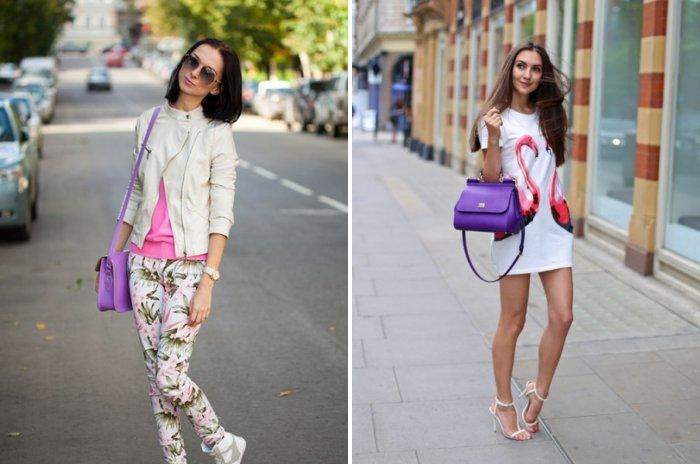 Стильная фиолетовая сумка