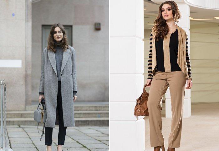 Классические брюки и теплое пальто