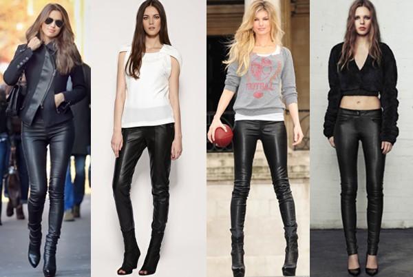 Кожаные брюки и спортивный стиль
