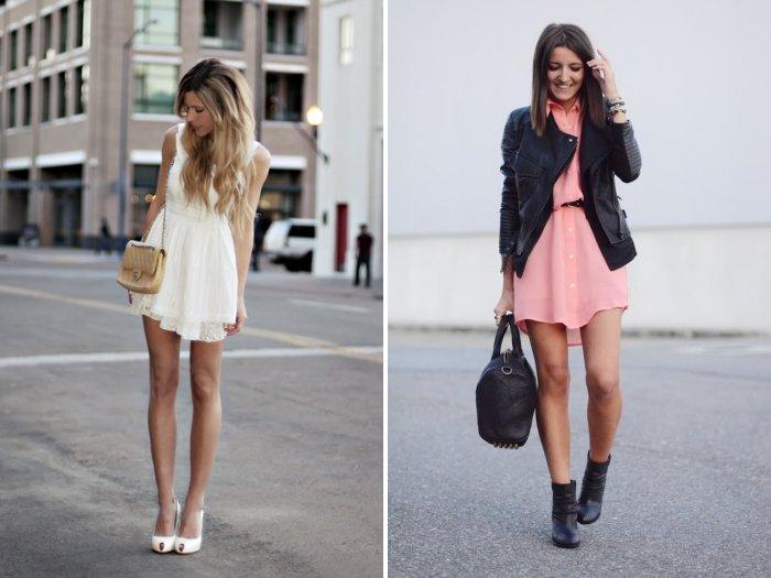 Короткое платье из легкого материала