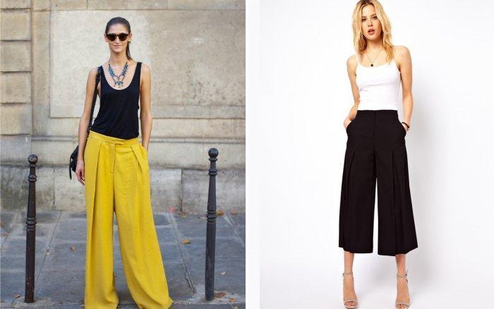 Широкие брюки: романтический образ