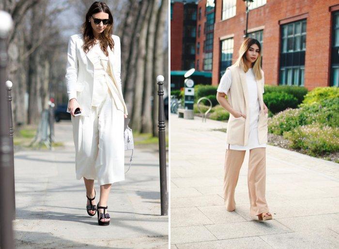 Широкие брюки: деловой стиль