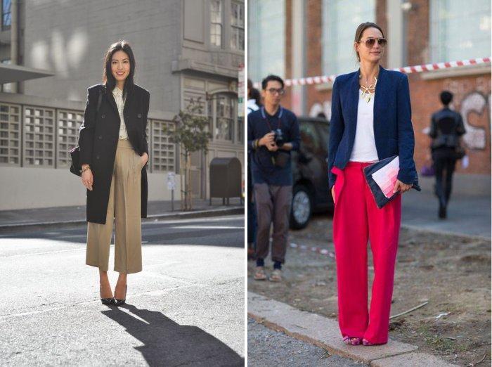 Широкие брюки с удлиненным жилетом