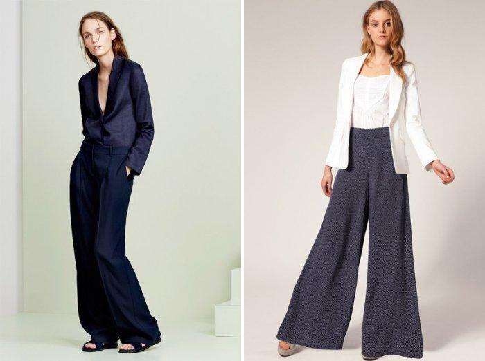 Классические широкие брюки