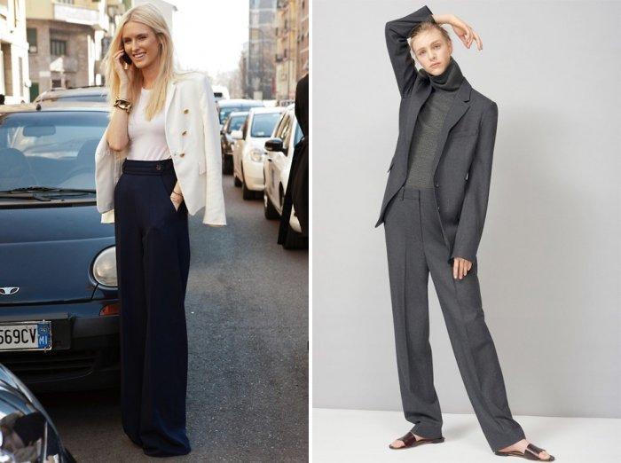 Широкие брюки для работы