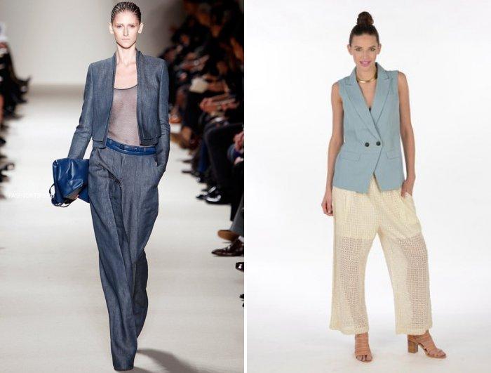Стильные широкие брюки