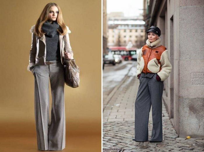 Широкие брюки: осенний вариант
