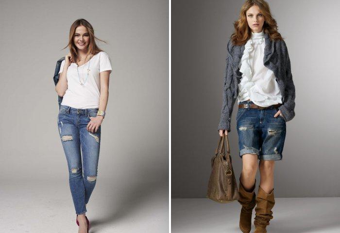 Использование джинсов в стиле кэжуал