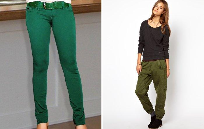 Зеленые брюки: стиль и мода
