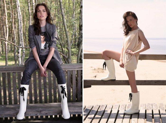 Белые сапоги: модно и стильно