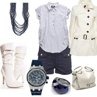Модные белые полусапожки