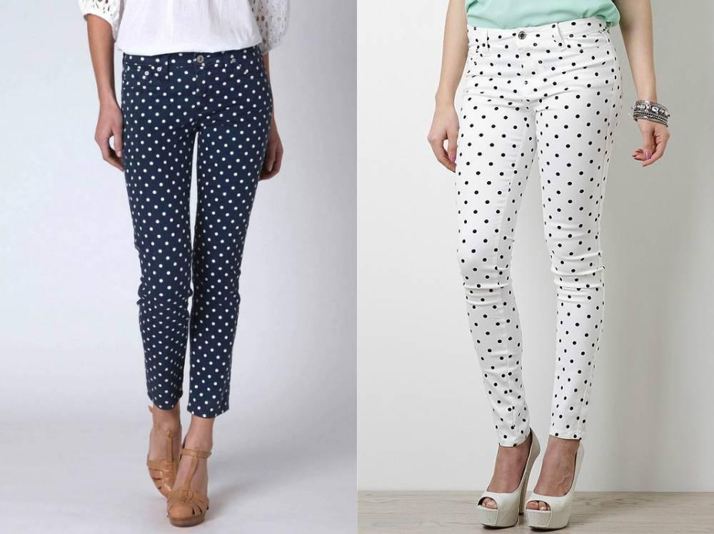 Модные брюки в мелкий горошек