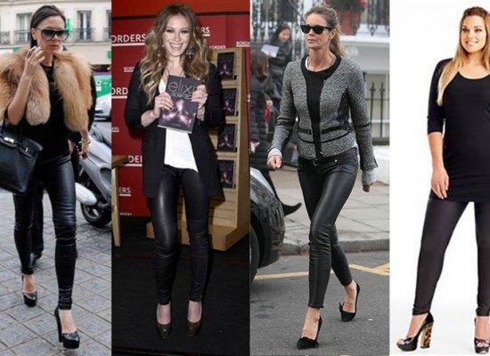 Кожаные леггинсы: модно и удобно