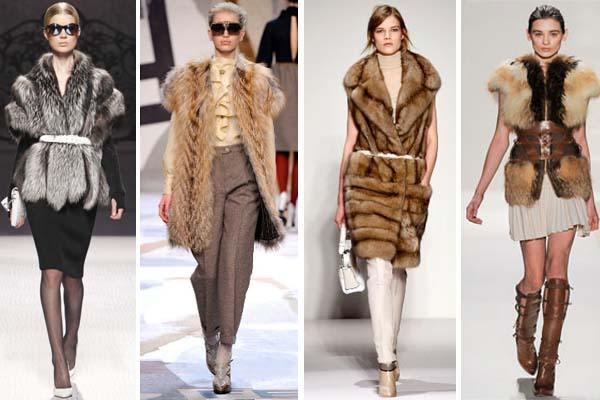 С чем носить меховую жилетку?