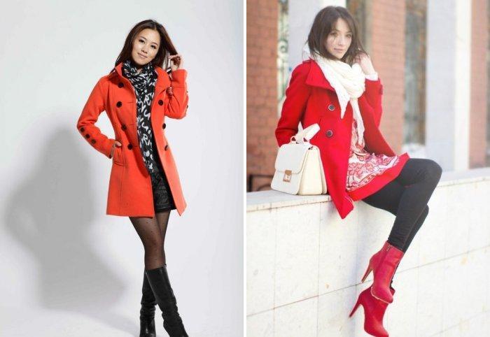 Красное пальто: модно и стильно
