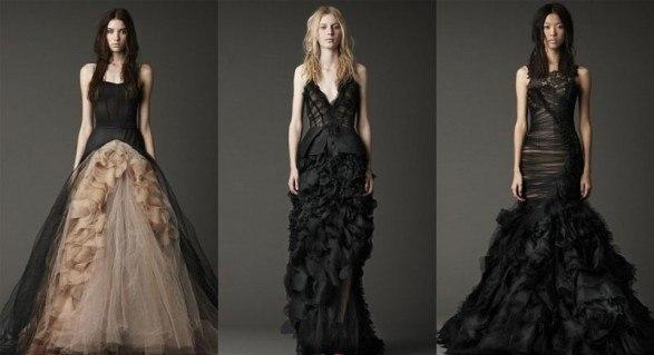 Свадебные платья в сочетании с черным цветом