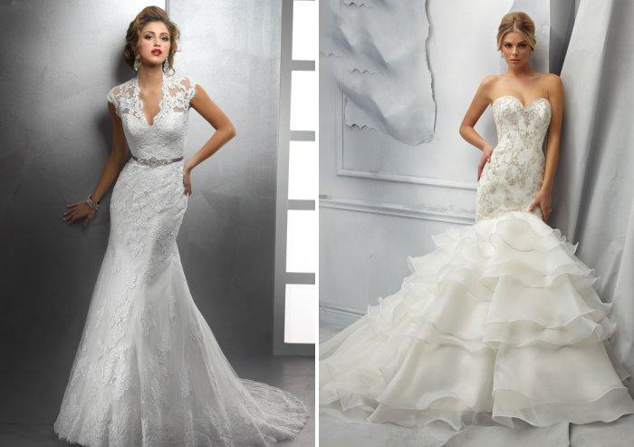 Свадебное платье в стиле русалка или рыбка