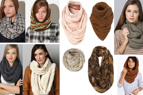 Красиво завязываем шарф-снуд
