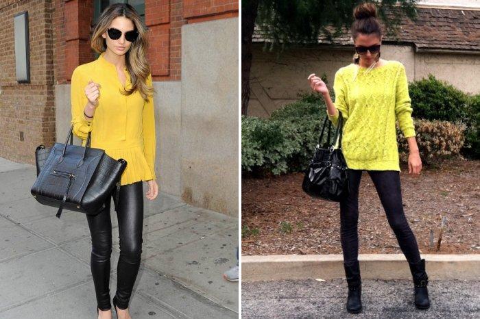 Свободный желтый свитер стиля кэжуал