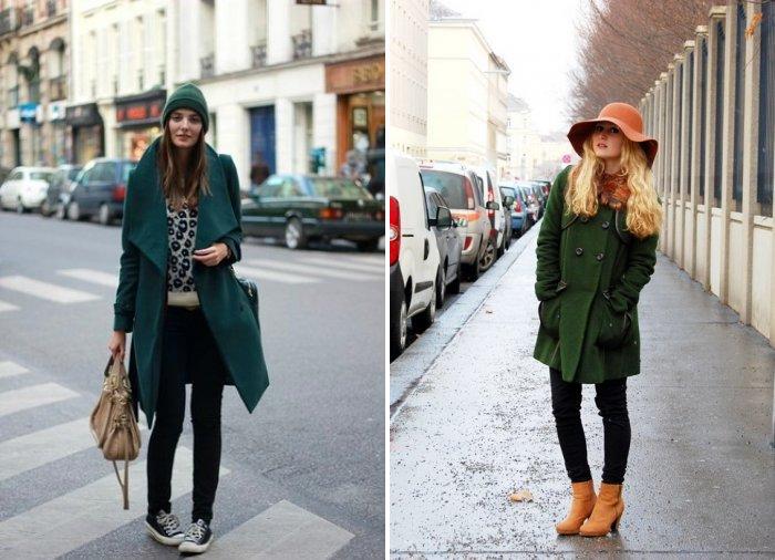 Головные уборы для зеленого пальто