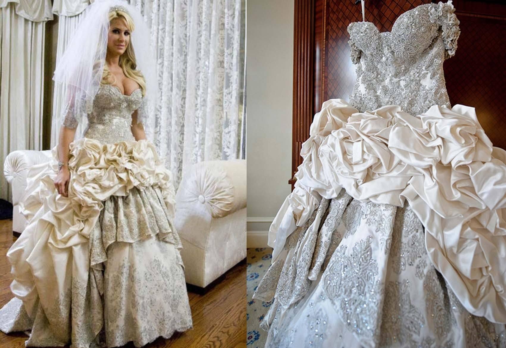 Платье свадебное в бриллиантах