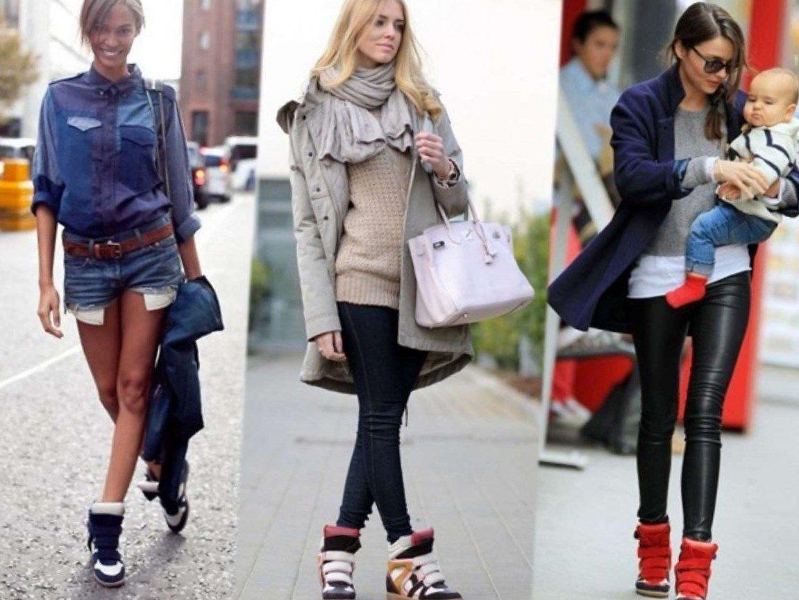 Сочетания обуви и стильной одежды