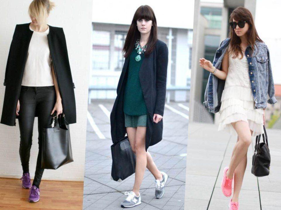 Обувь различных цветов и современная одежда