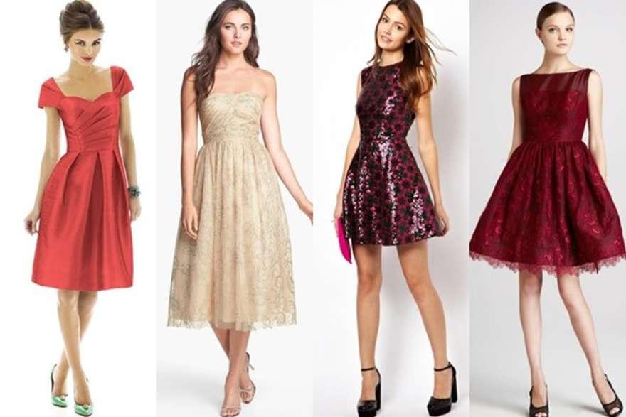 Платья в разных цветах