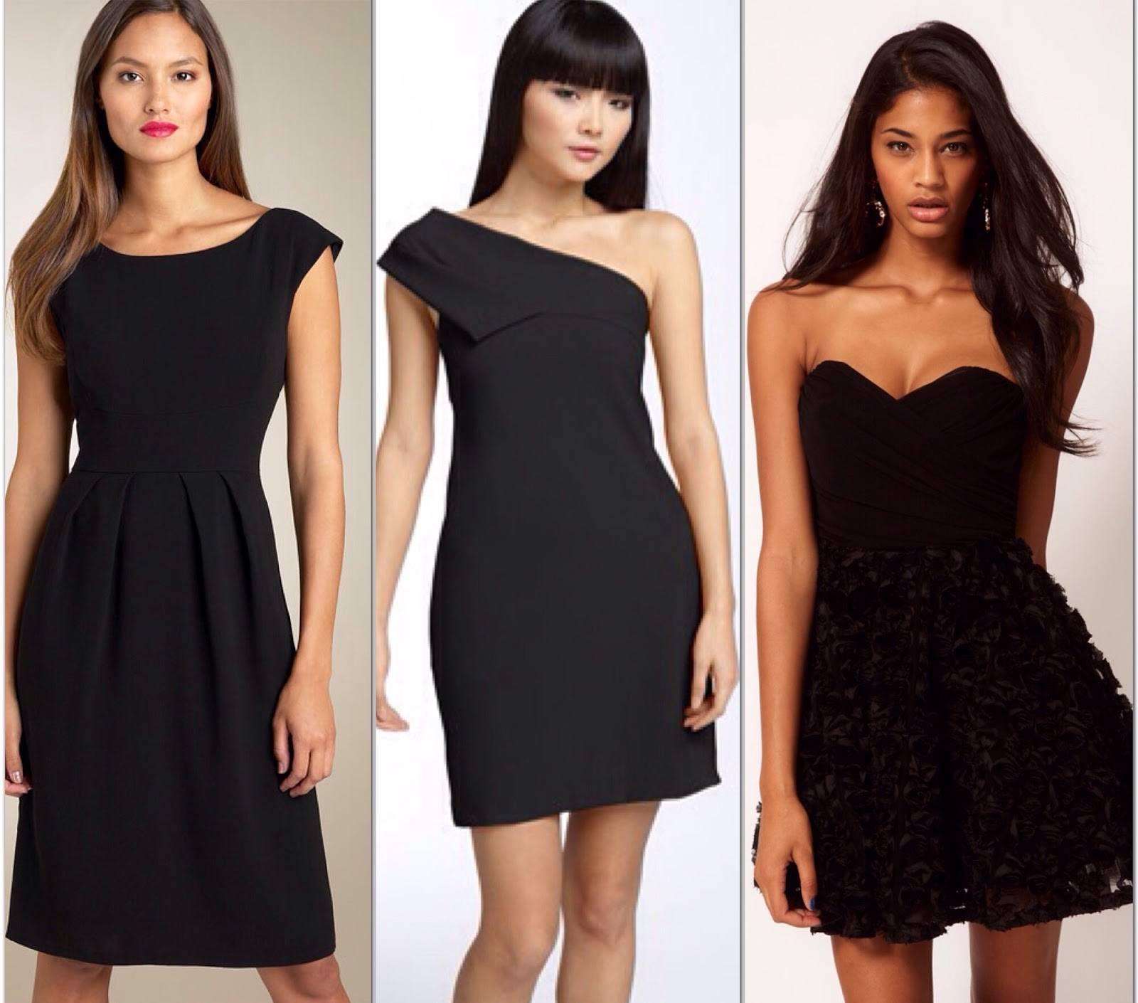 Платье черное - простое