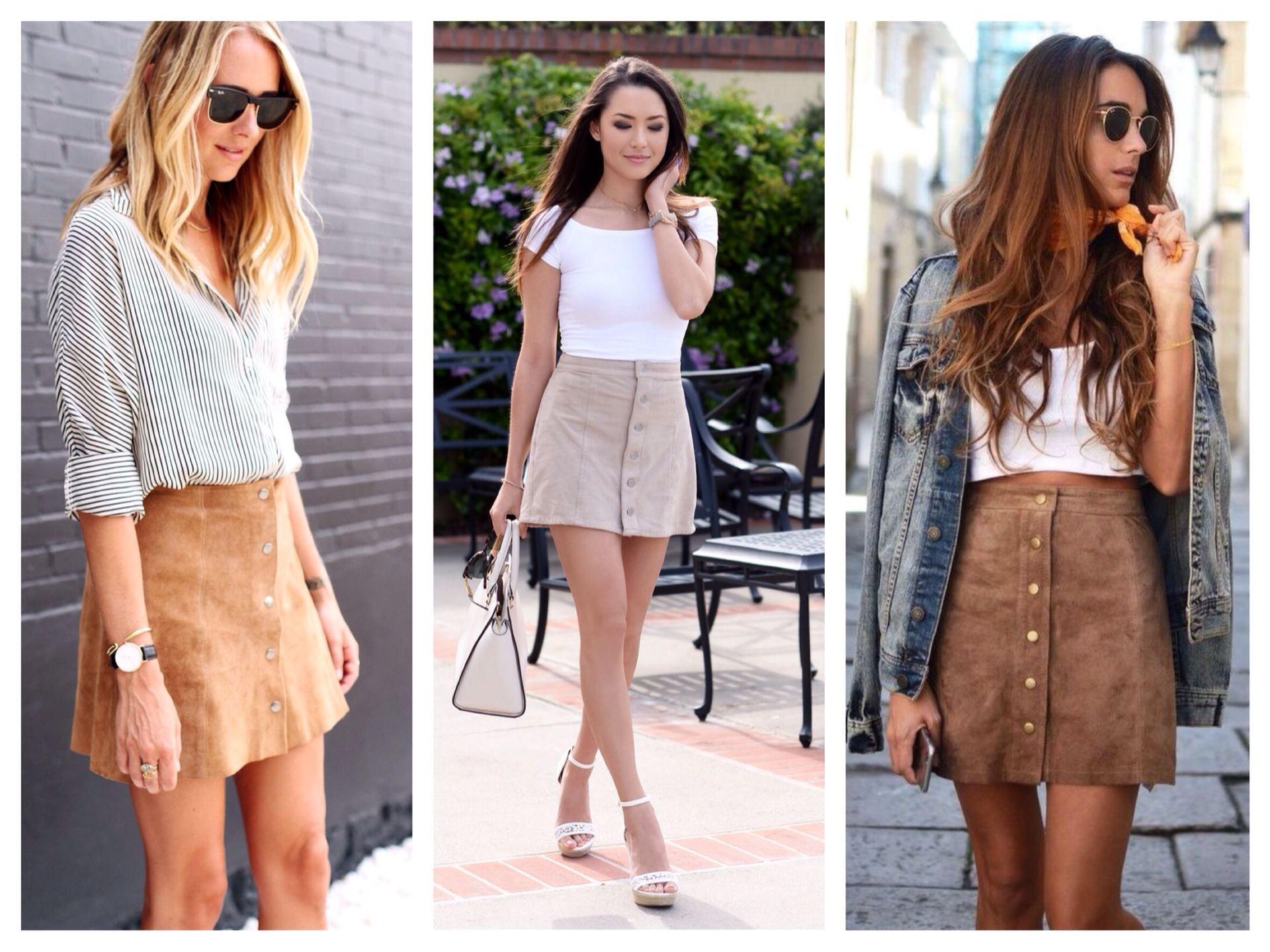 Короткая юбка в образе