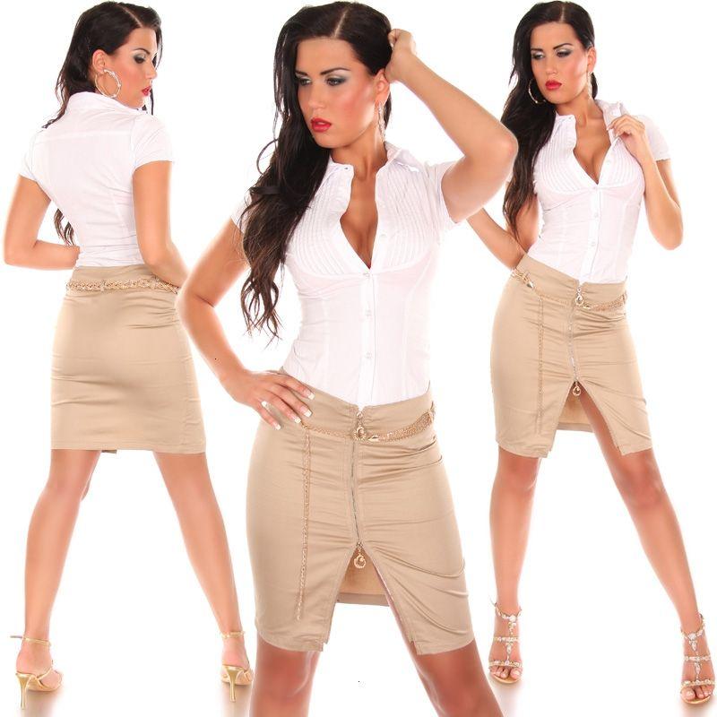 Короткая юбка со змейкой