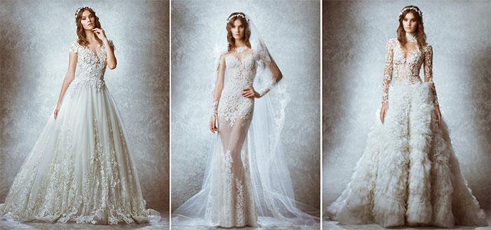 Свадебный полупрозрачный наряд с вышивкой