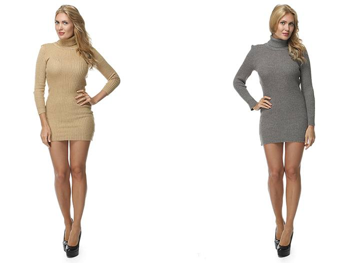 Короткое платье-лапша