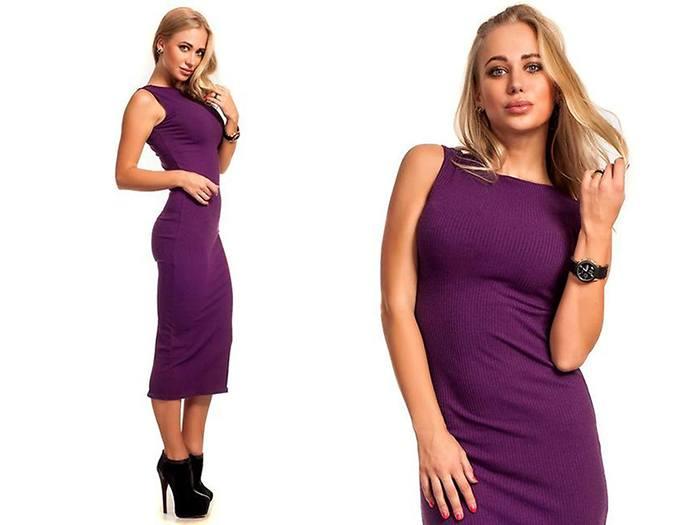 Платье-лапша ниже колена