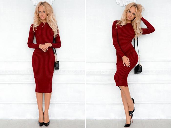 Красное платье-лапша