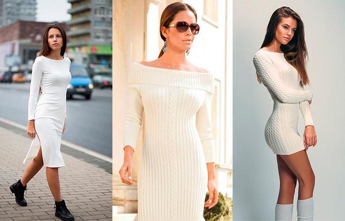 Белые платья-лапша